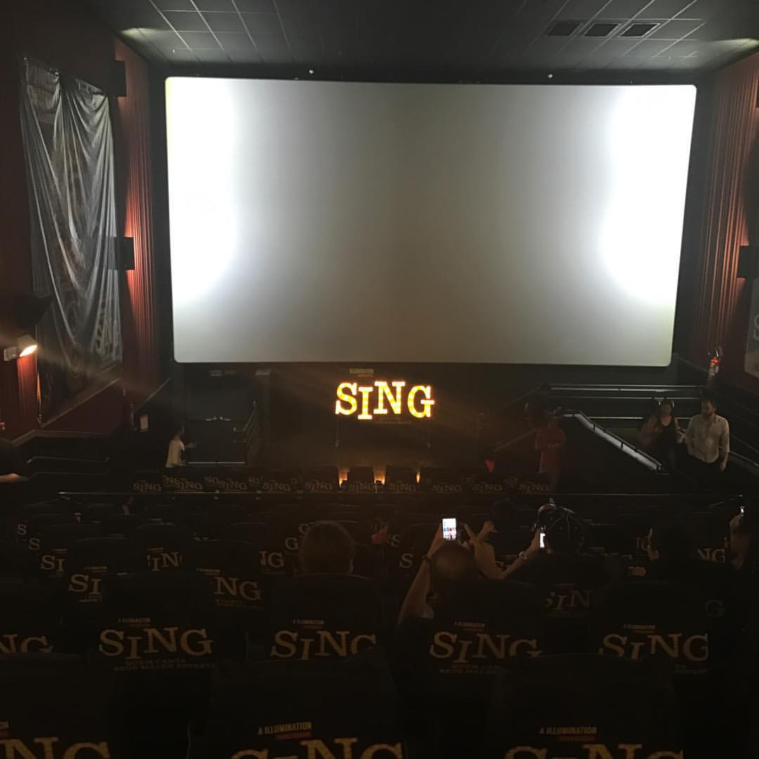 Sala de cinema do Shopping Cidade São Paulo, preparada para a cabine de imprensa para jornalistas e pré-estreia